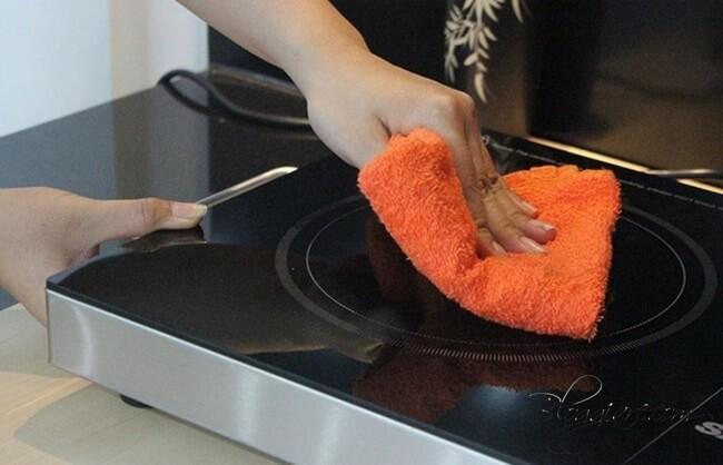 lưu ý khi vệ sinh mặt bếp hồng ngoại