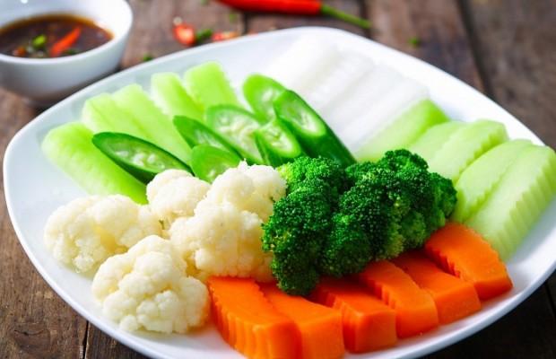 rau củ luộc giảm cân