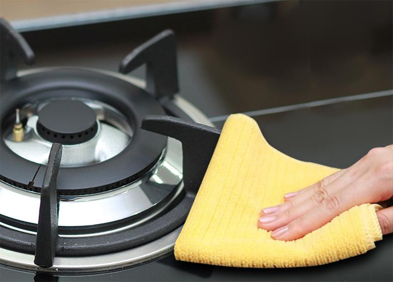 cách làm sạch mặt bếp ga