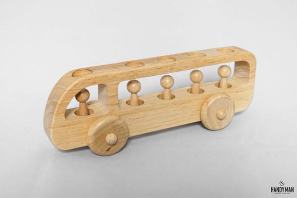 Mô hình chiếc xe bus nhỏ xinh, cách điệu