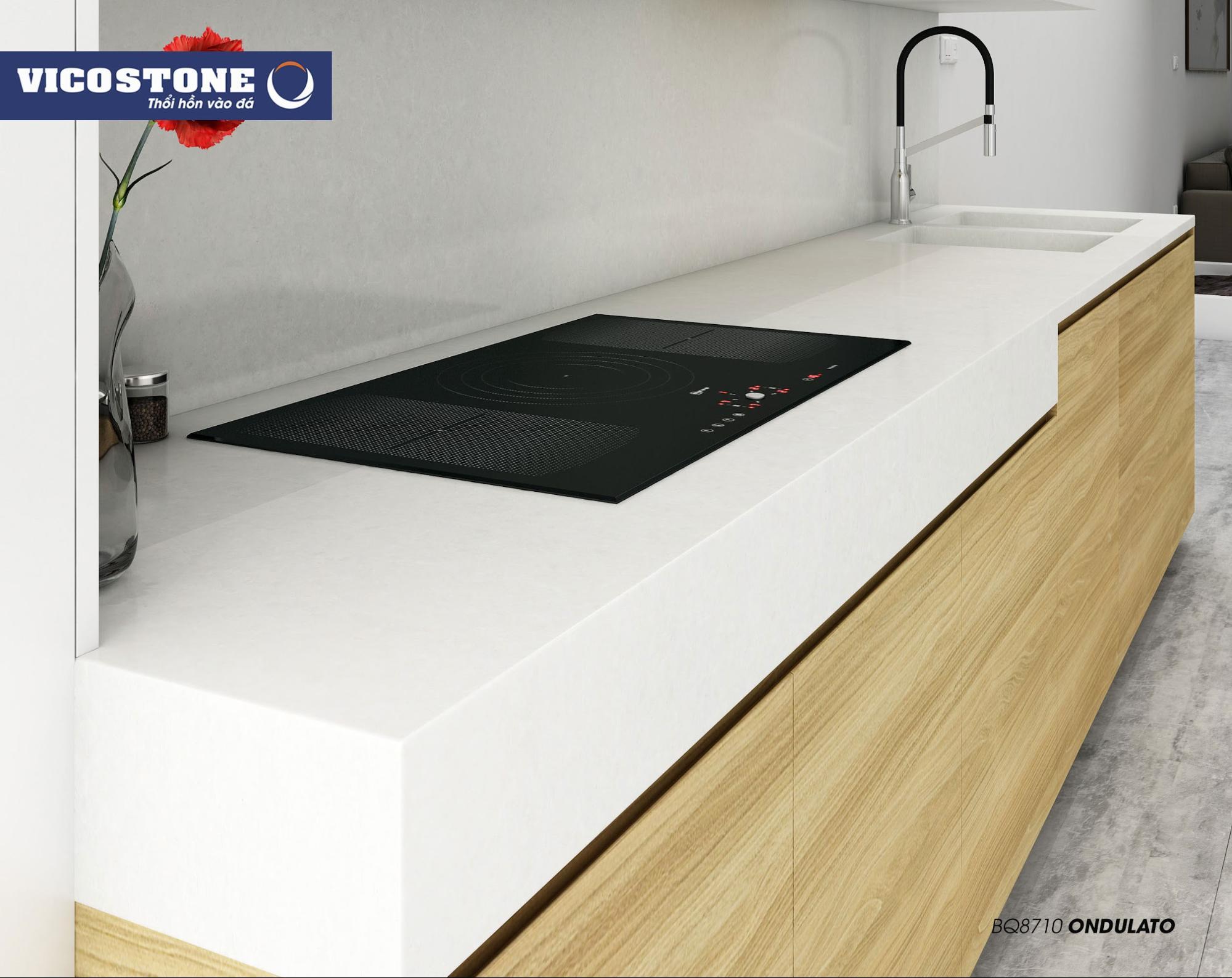 Mẫu đá bàn bếp VICOSTONE Ondulato BQ8710
